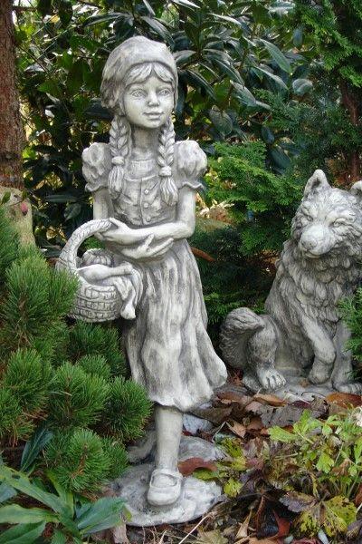 """Gartenfigur Gebrüder Grimm """"ROTKÄPPCHEN"""", Steinguss"""