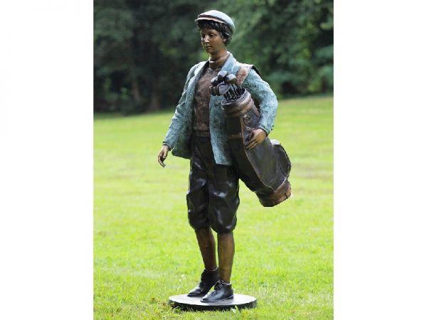 Bronzefigur Golfspieler