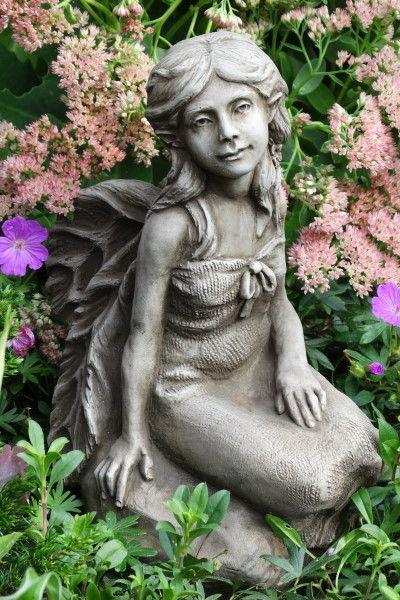 """Gartenfigur Fee """"MELINDA"""", Steinguss © by Fiona Scott"""