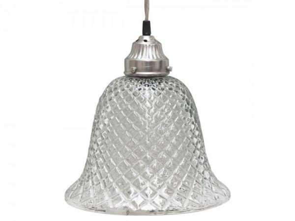 Lampe Glocke Glas von Chic Antique
