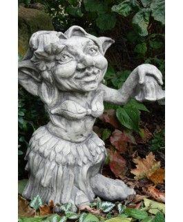 "Gartenfigur Musiker-Troll ""Tänzerin"""