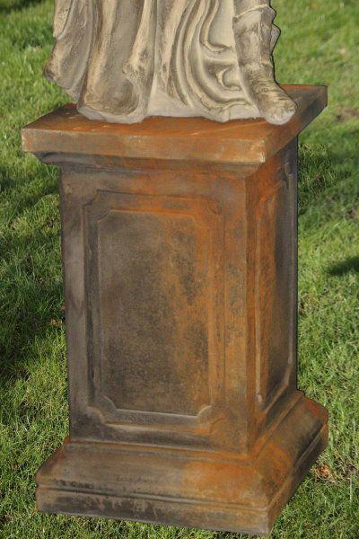 Säule geeignet für Gartenfigur Engel Rachel, Rosteffekt