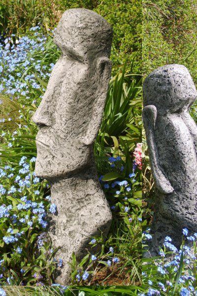 """Gartenfigur """"MOAI"""", Kopf, © by Fiona Scott"""