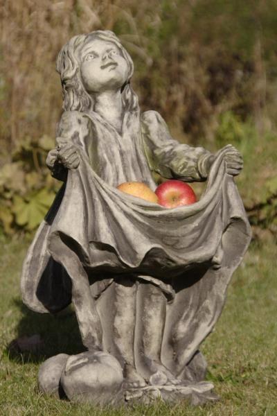 """Gartenfigur FLOWER FAIRY """"Apfel"""", Steinguss"""