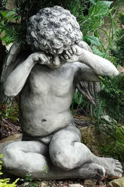 "Gartenfigur Engel ""CALLIEL"", Steinguss"