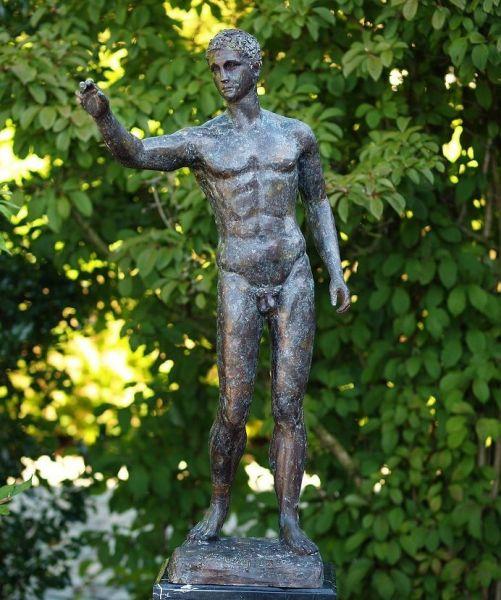 Bronzefigur Nackter Mann Antik