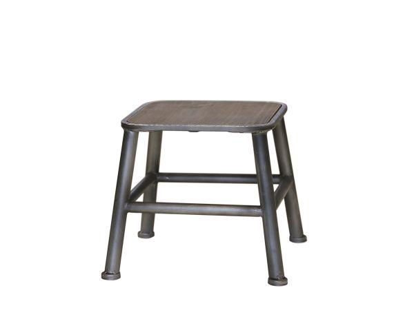 Hocker mit Holz Sitz von Chic Antique