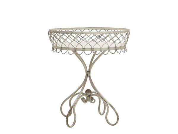 Tisch mit fil de fer Kante von Chic Antique