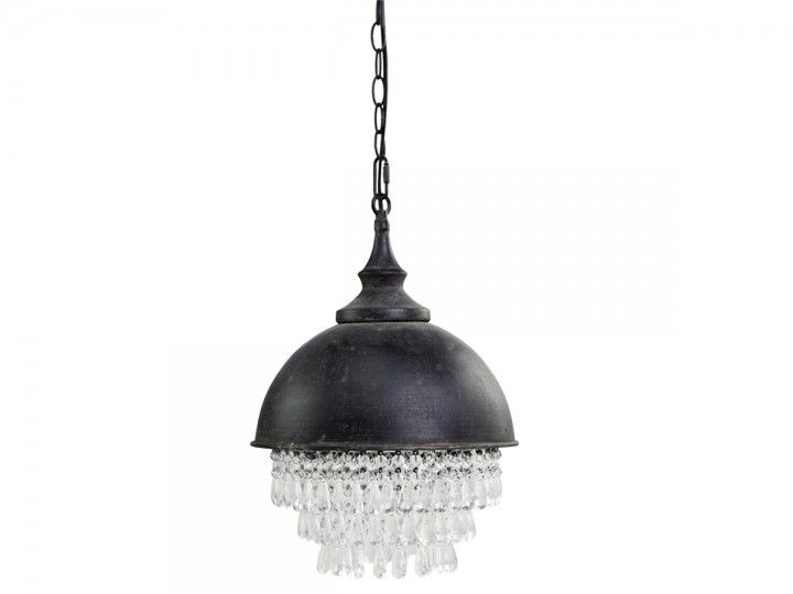 Factory Lampe mit Prismen von Chic Antique