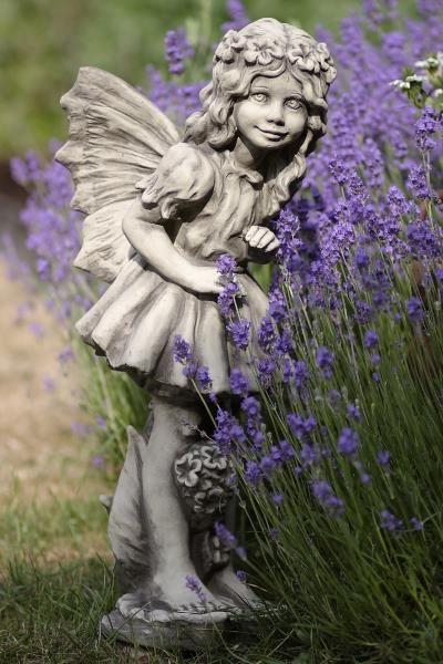 """Gartenfigur FLOWER FAIRY """"Vanilleblume"""", Steinguss"""