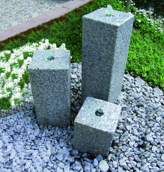 Granit-Wasserspiel Kubus