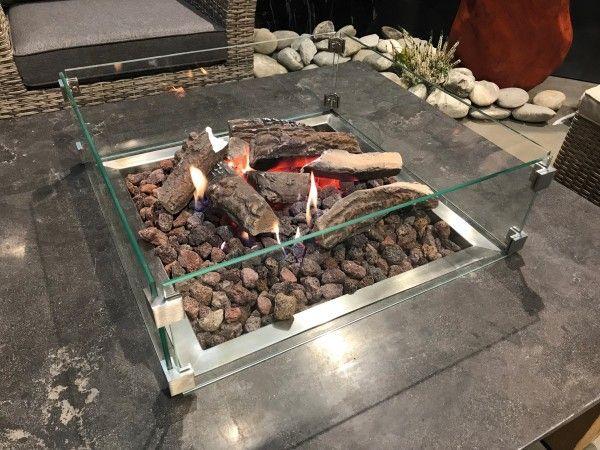 Schutzglas für Feuertisch,Ätna,Pompeji,Fuego