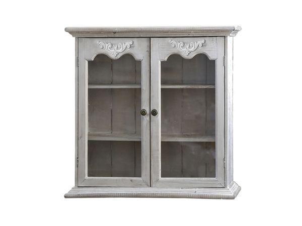 Wandschrank mit 2 Glastüren von Chic Antique