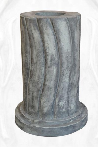 Gartenfigur geschwungene Säule, rund, Steinguss für die Baumhüter
