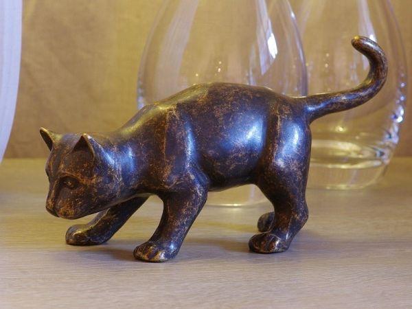 Bronzefigur Braune Katze