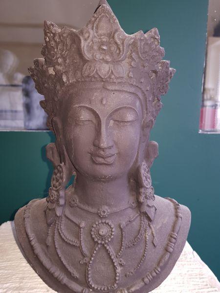 Gartenfigur Shiva Gesicht