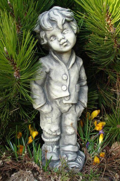 """Gartenfigur Junge """"FRIEDER"""", Steinguss"""