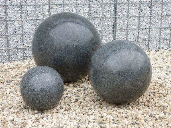 Granit-Kugel schwarz, poliert