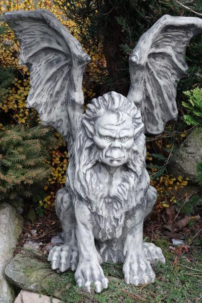 Gartenfigur Fabelwesen MANTIKOR, Steinguss