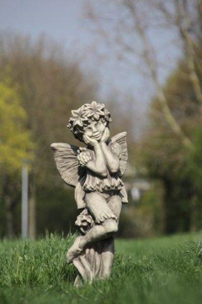 """Gartenfigur FLOWER FAIRY """"Kornblume"""", Steinguss"""