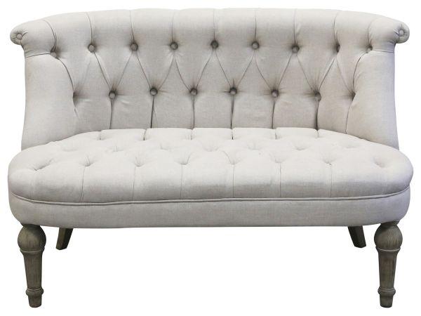 Französiches Sofa in Leinenstoff 2-Sitzer von Chic Antique