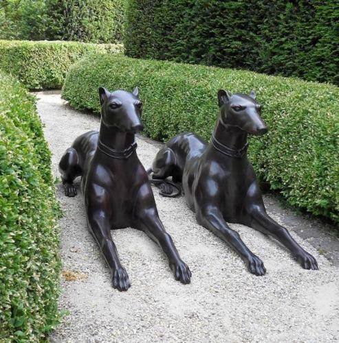 """Bronzefigur Hunde """"Die Wächter"""""""