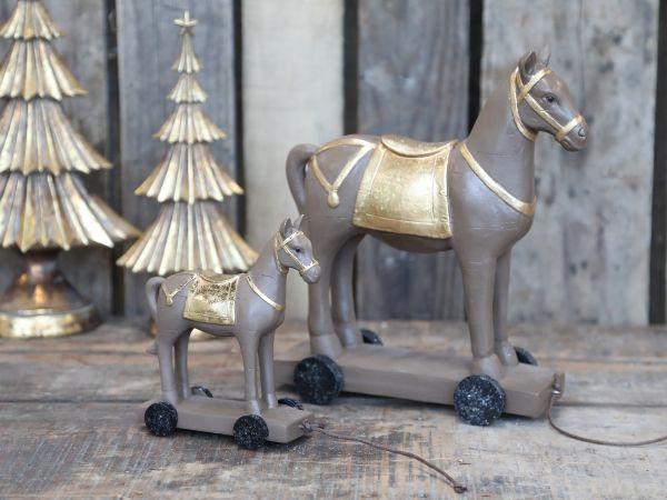 Pferd auf Rädern groß von Chic Antique