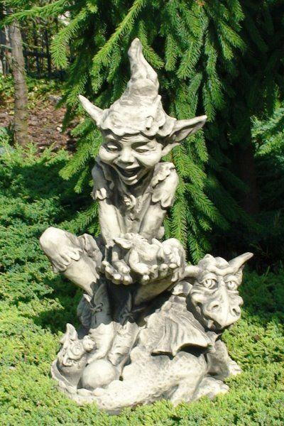 """Gartenfigur Gnom """"IT'S A BOY"""", Steinguss"""