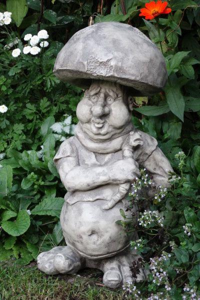 """Gartenfigur Kobold """"Steinpilz"""", Steinguss"""