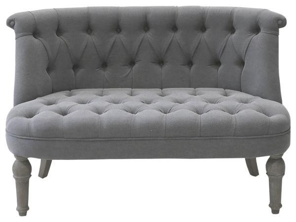 Französisches Sofa in Leinenstoff 2-Sitzer von Chic Antique