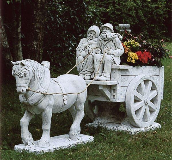 Gartenfigur Pferdekutsche TE 430 DG
