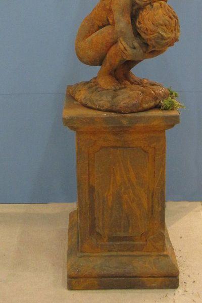 Säule geeignet für Gartenfigur Engel Rachel, Edition Oxid