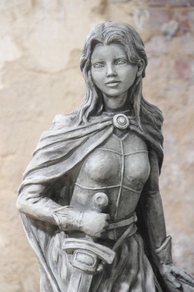 "Gartenfigur ""JEANNE d'ARC"", Steinguss"