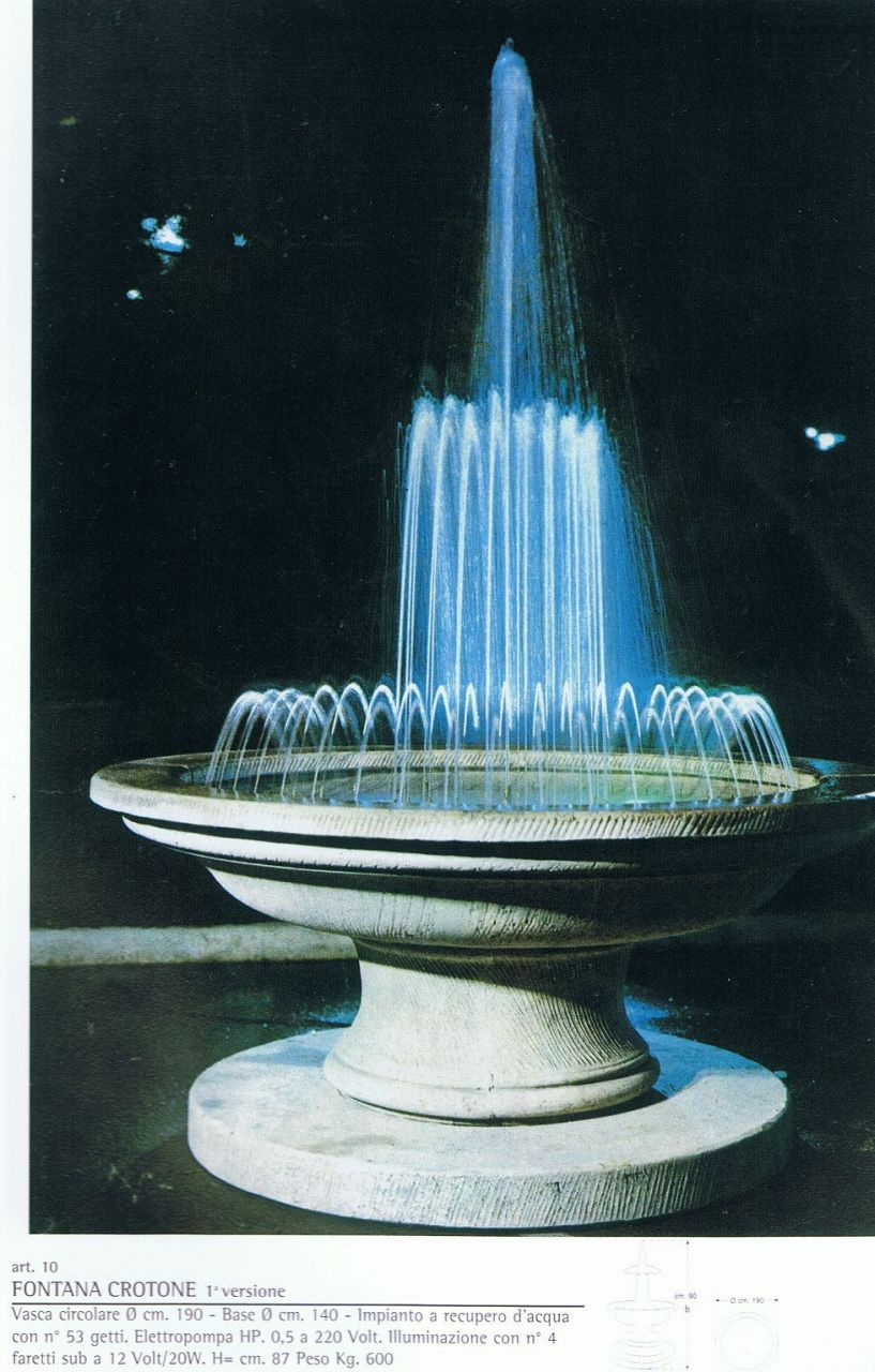 Springbrunnen Crotone Made in Italy