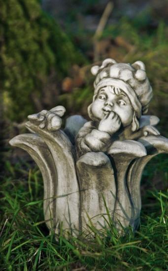 """Gartenfigur Sprössling """"BIENE"""", Steinguss"""