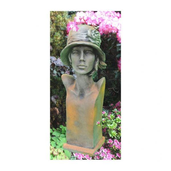"Gartenfigur Büste Moderne Romantik ""SISALA"", Rosteffekt"