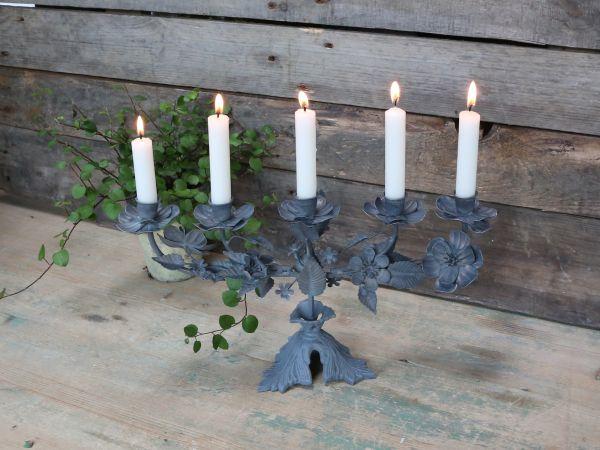 Franz. Kirchenkerzenhalter für 5 Kerzen von Chic Antique