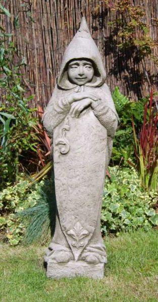 "Gartenfigur ""MARCUS"", aufmerksamer Mönch, © by Fiona Scott"