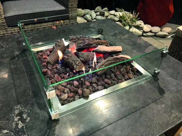 Schutzglas für Feuertisch Ätna/Pompeji