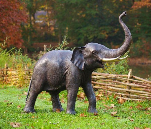 Bronzefigur Elefant