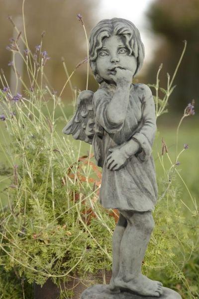 """Gartenfigur Engel """"DINA"""", stehend, Steinguss"""