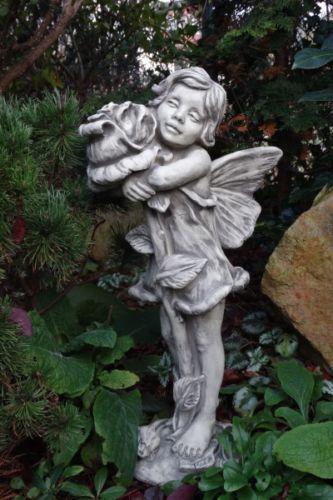 "Gartenfigur FLOWER FAIRY ""Rose"", Steinguss"