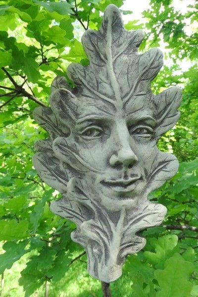 """Gartenfigur Blatt """"EICHE"""", Steinguss"""