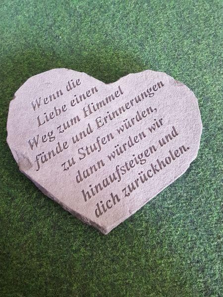 """Gedenkstein """"Wenn die Liebe..."""", klein"""