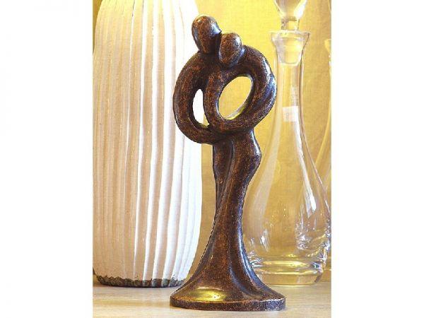 Bronzefigur Abstraktes Liebespaar