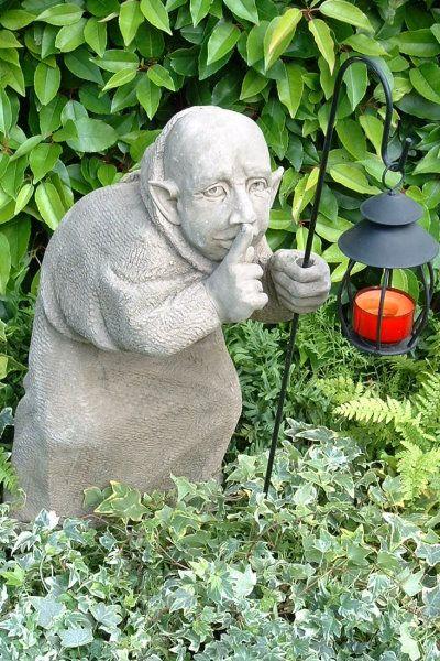 """Gartenfigur """"TOM"""", Schleicher, © by Fiona Scott (inkl Laterne)"""