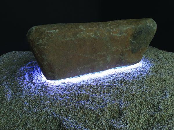 Findling-Bank inkl. LED-Band RGB