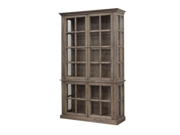 Vitrinenschrank mit 4 Türen/Ablagen aus Recyclingholz von Chic Antique