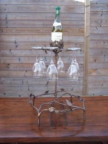 Bronzefigur Weinglasbehälter aus Bronze