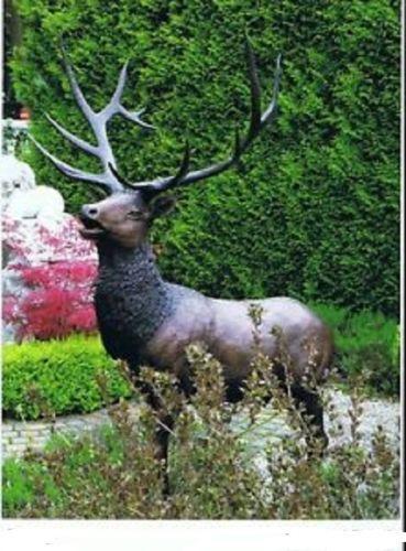 Bronzefigur Hirsch